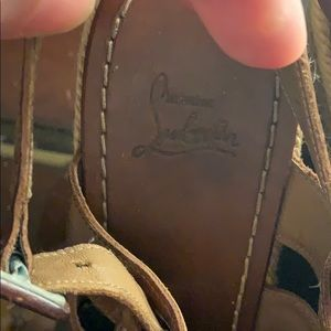 """Shoes - Well loved """"Barcelona"""" wedge Louboutins"""